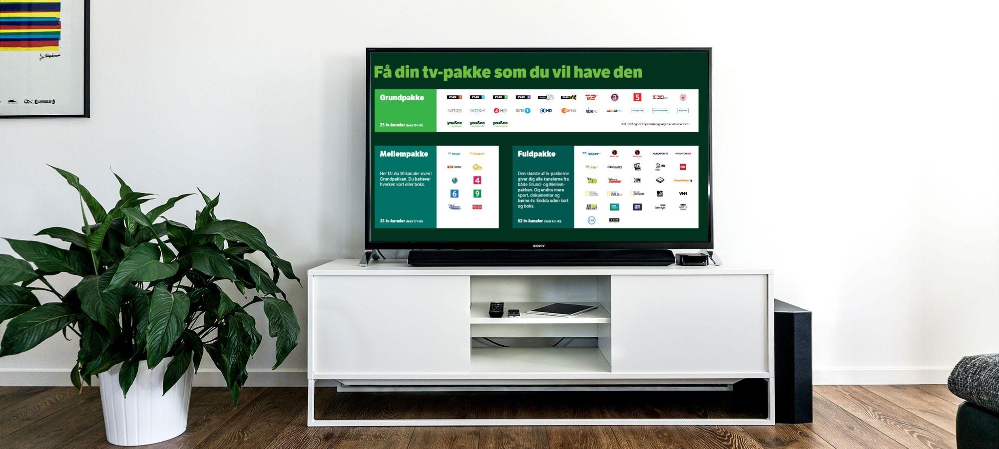 Bestem selv hvad du vil se på dit TV